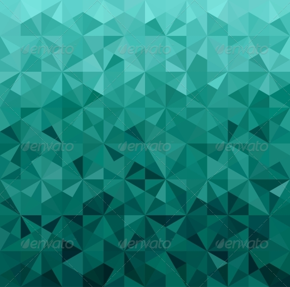 Abstract Green Triangle Background - Backgrounds Decorative