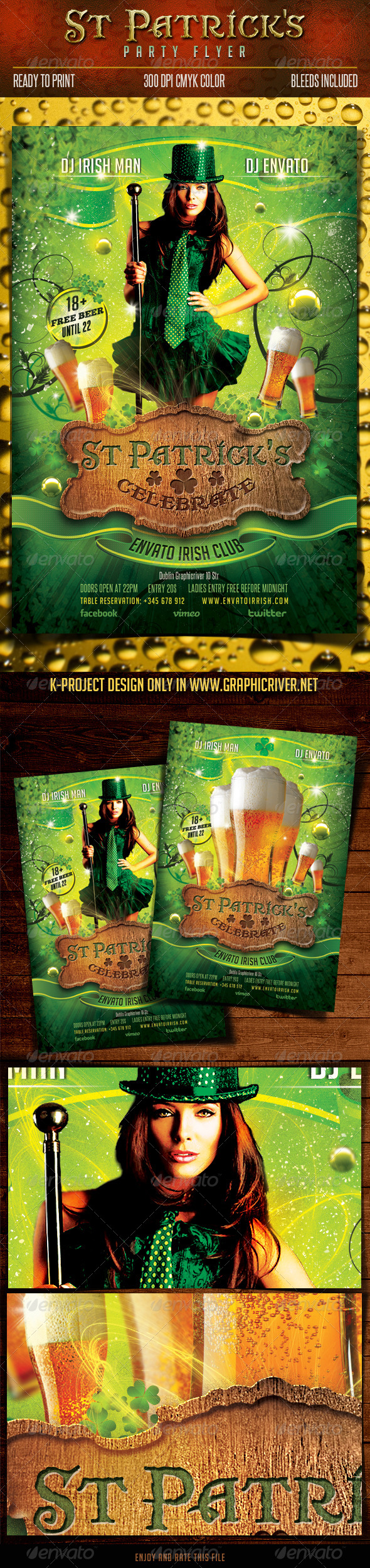 Saint Patrick Party Flyer - Clubs & Parties Events