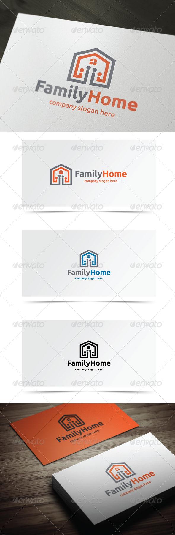 Family Home - Buildings Logo Templates