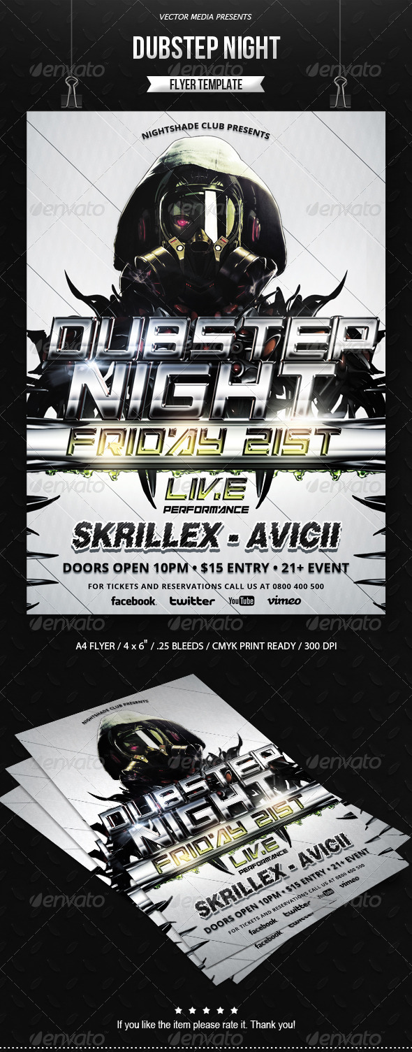 Dubstep Night - Flyer - Clubs & Parties Events