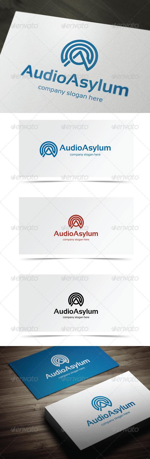 Audio Asylum - Letters Logo Templates