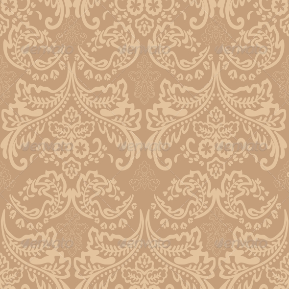 Damask Vintage Floral Seamless Pattern - Patterns Decorative
