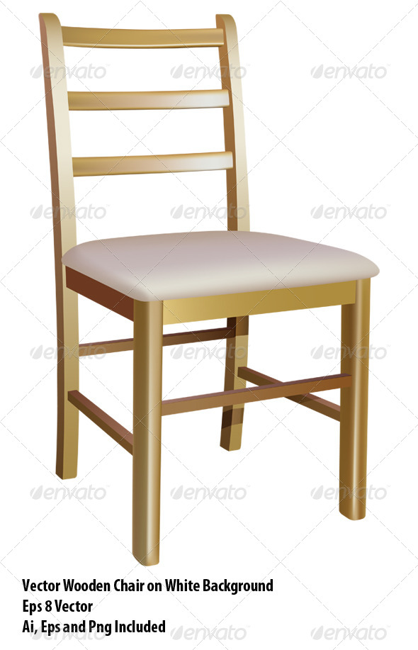 Wooden Chair - Objects Vectors