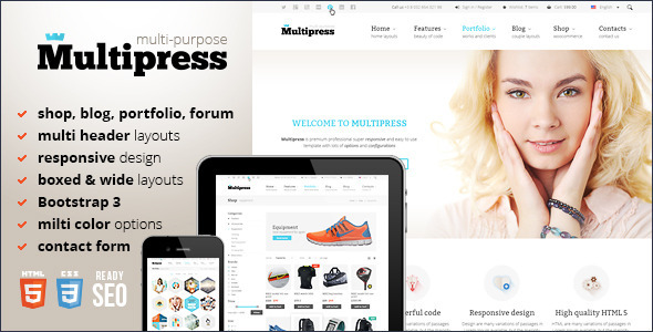 Multipress - Responsive HTML5 Template