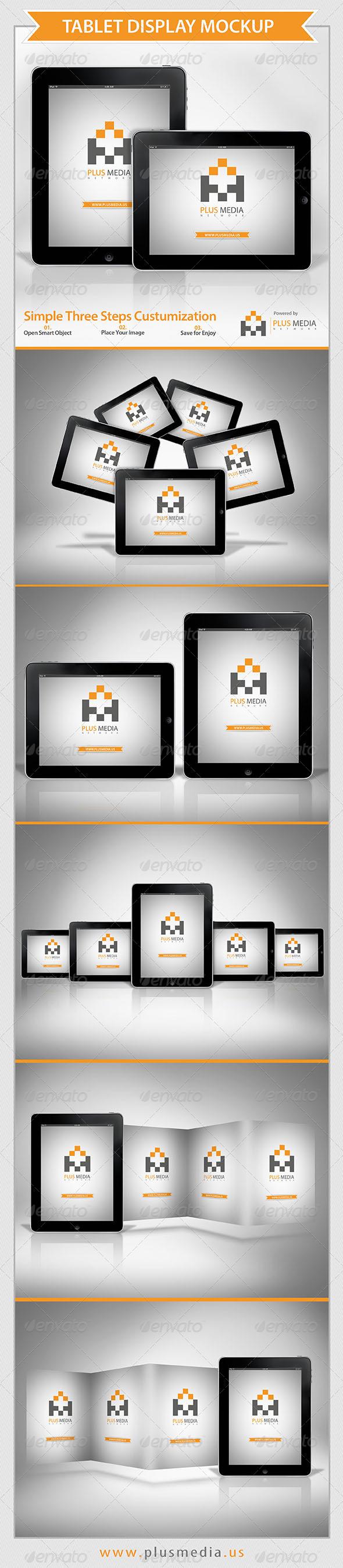 Tablet Display Mockup - Mobile Displays