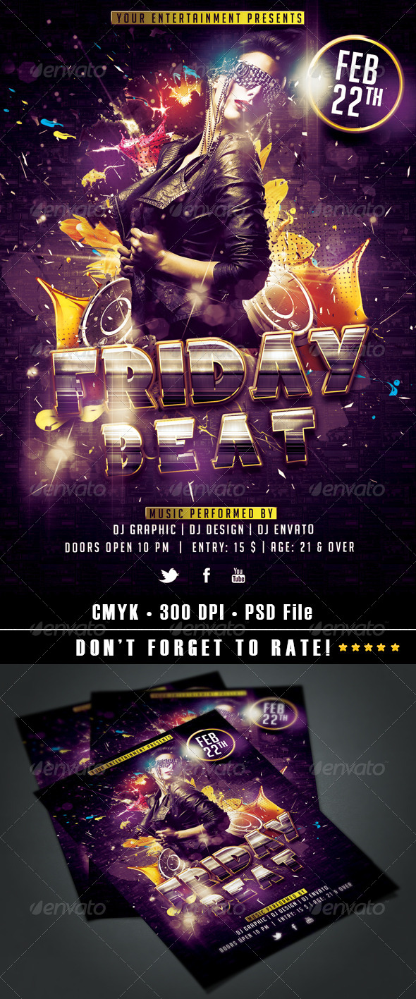 Friday Beat Flyer - Events Flyers