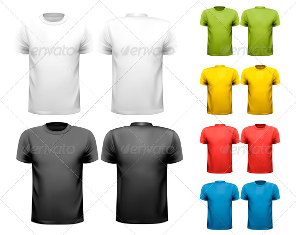 Colorful Male T-Shirts Design Template - Commercial / Shopping Conceptual