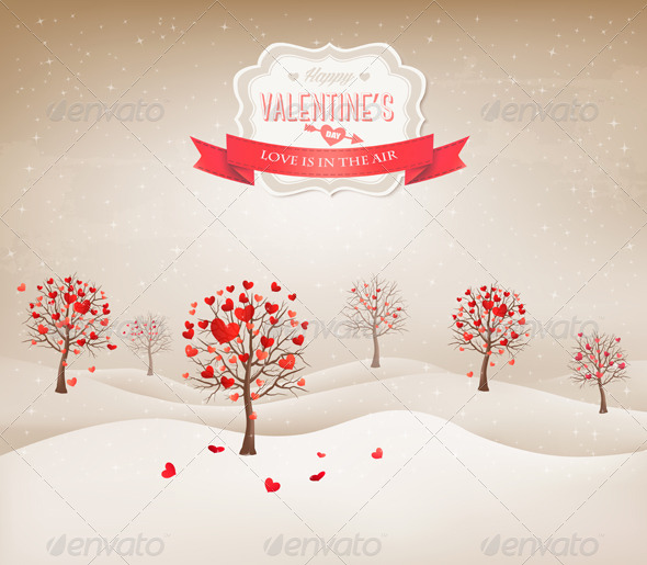 Holiday Retro Background - Valentines Seasons/Holidays