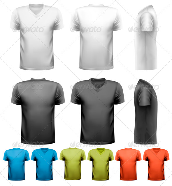 Colorful Male T-Shirts  - Commercial / Shopping Conceptual