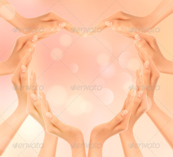 Hands making a Heart - Valentines Seasons/Holidays