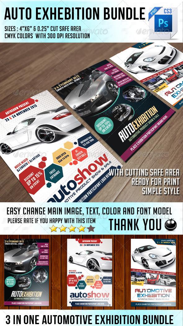 Auto Exhibition Flyer Bundle - Events Flyers