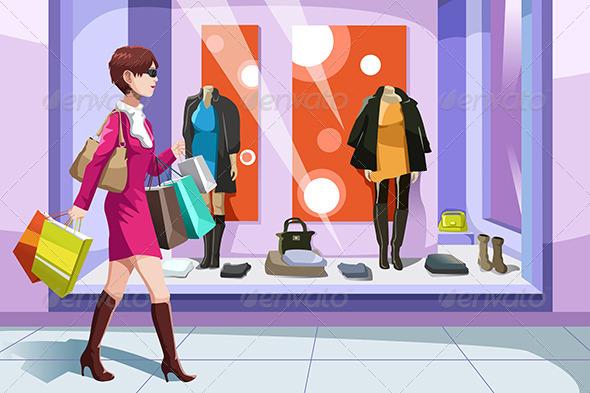 Shopaholic Girl - Commercial / Shopping Conceptual