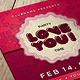 Valentine's Day Flyer & Postcard - GraphicRiver Item for Sale