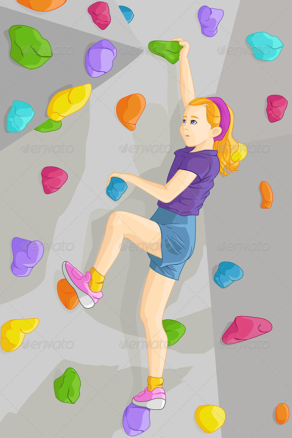 Indoor Rock Climber - Sports/Activity Conceptual