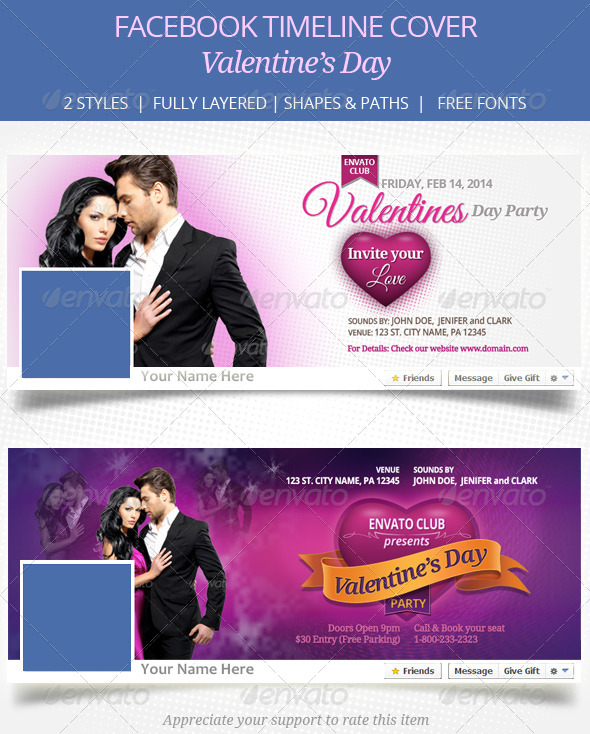 Valentines Day Facebook Timeline Cover - Facebook Timeline Covers Social Media