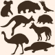 Vector Set of Australian Animals Silhouettes - GraphicRiver Item for Sale