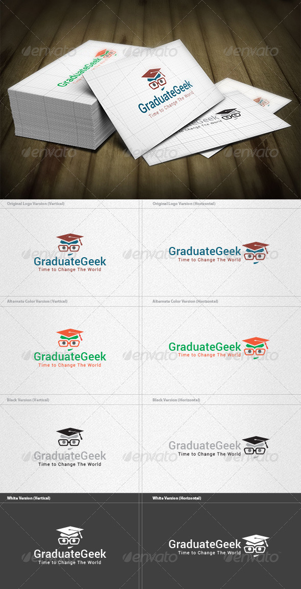 Graduate Geek Logo - Humans Logo Templates