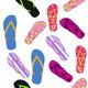 Flip Flops. Summer Background - GraphicRiver Item for Sale