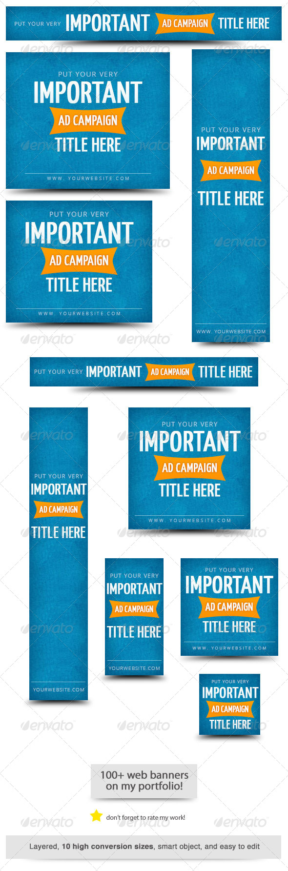 Important Ad Campaign Web Banner - Banners & Ads Web Elements