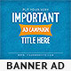 Important Ad Campaign Web Banner - GraphicRiver Item for Sale