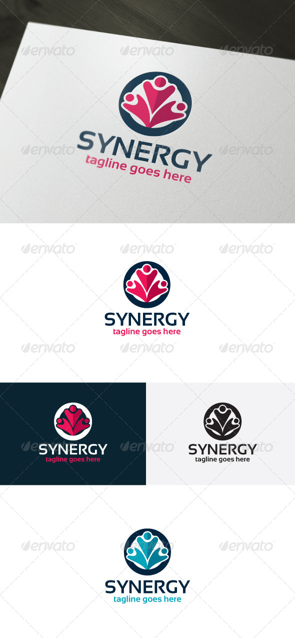 Synergy Logo Template - Vector Abstract