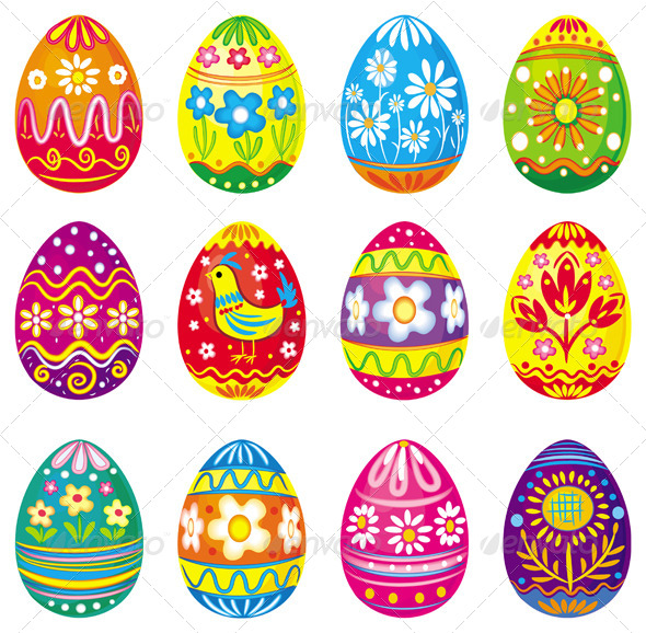Collection of Vector Eggs - Miscellaneous Seasons/Holidays