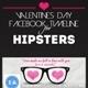 Valentines Day Hipster Timelines