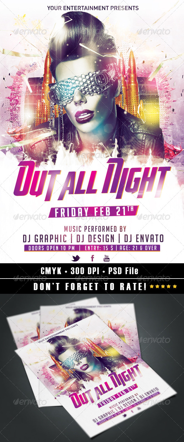 Out All Night - Clubs & Parties Events