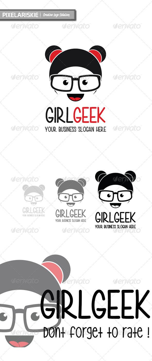 Girl Geek Logo - Humans Logo Templates
