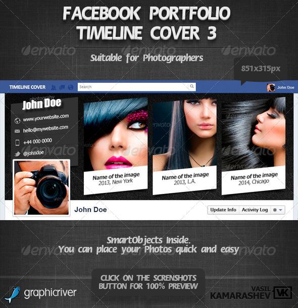 Facebook Portfolio Timeline Cover 3 - Facebook Timeline Covers Social Media