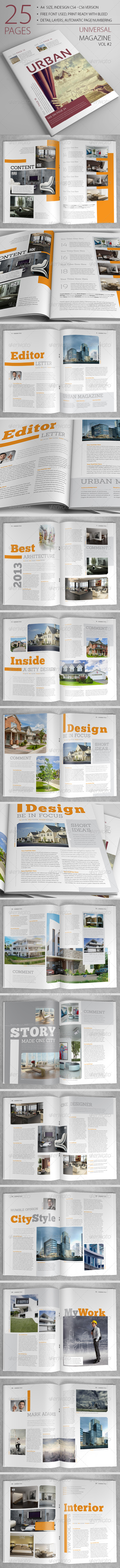 25 Pages Universal Magazine Vol2 - Magazines Print Templates
