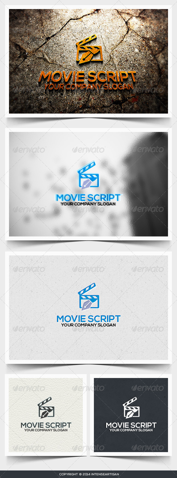 Movie Script Logo Template - Objects Logo Templates