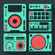 DJ Equipment Icons Set
