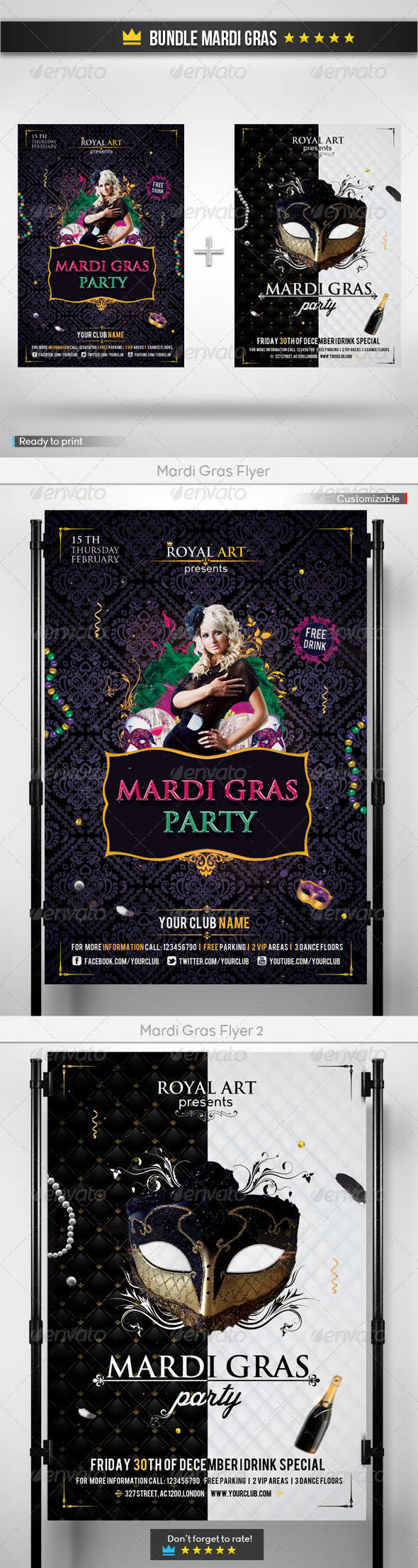 Bundle Mardi Gras - Holidays Events