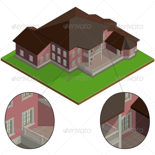 Isometric Villa - Buildings Objects