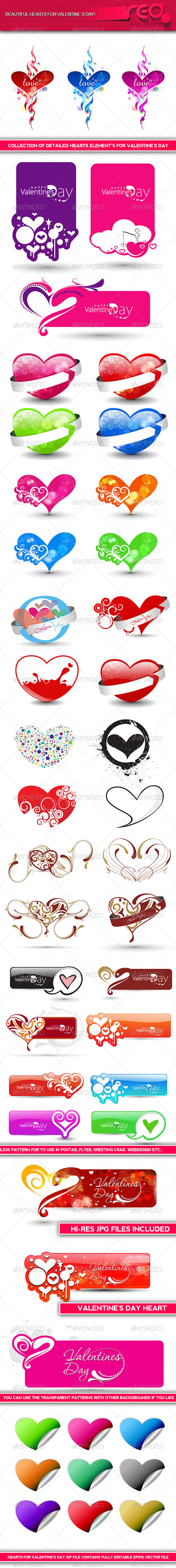 Valentine's Day Heart Shape - Valentines Seasons/Holidays
