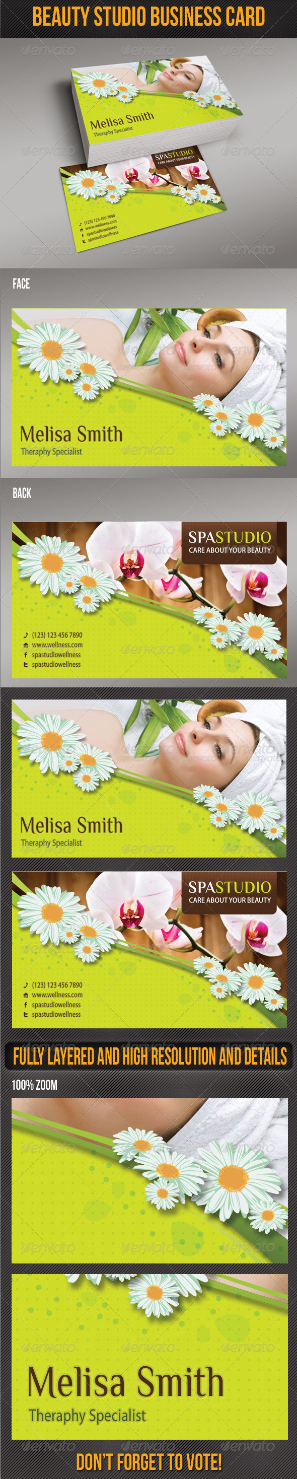 Spa Studio Business Card 03 - Creative Business Cards