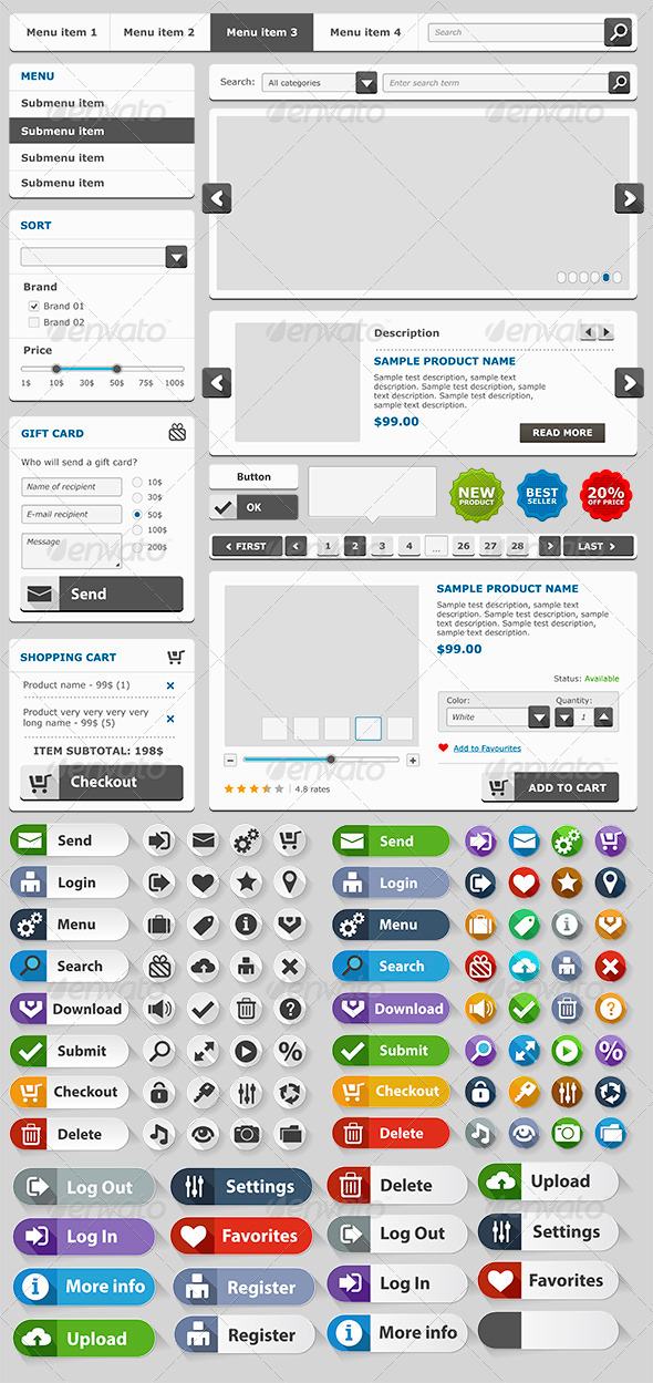 Online Shop Elements Set - Web Elements