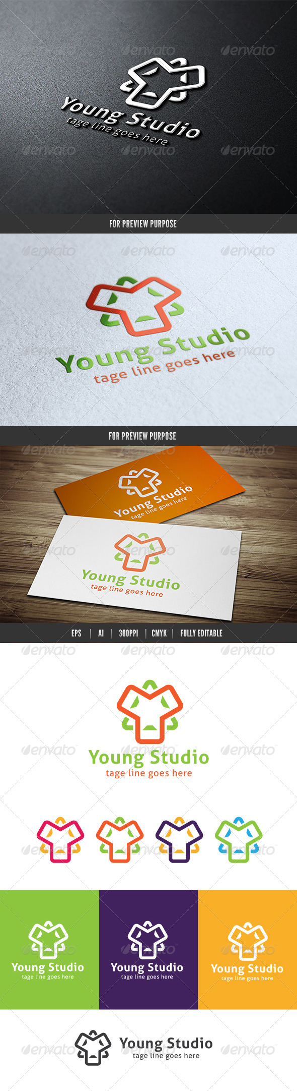 Young Media Design - Symbols Logo Templates