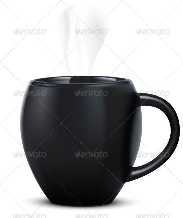 Mug Isolated on White - Objects Illustrations