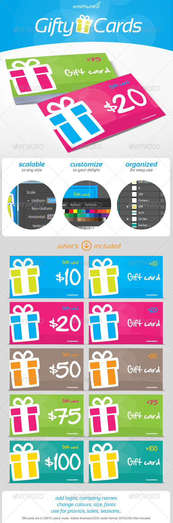 Gifty Cards - Gift card - Cards & Invites Print Templates
