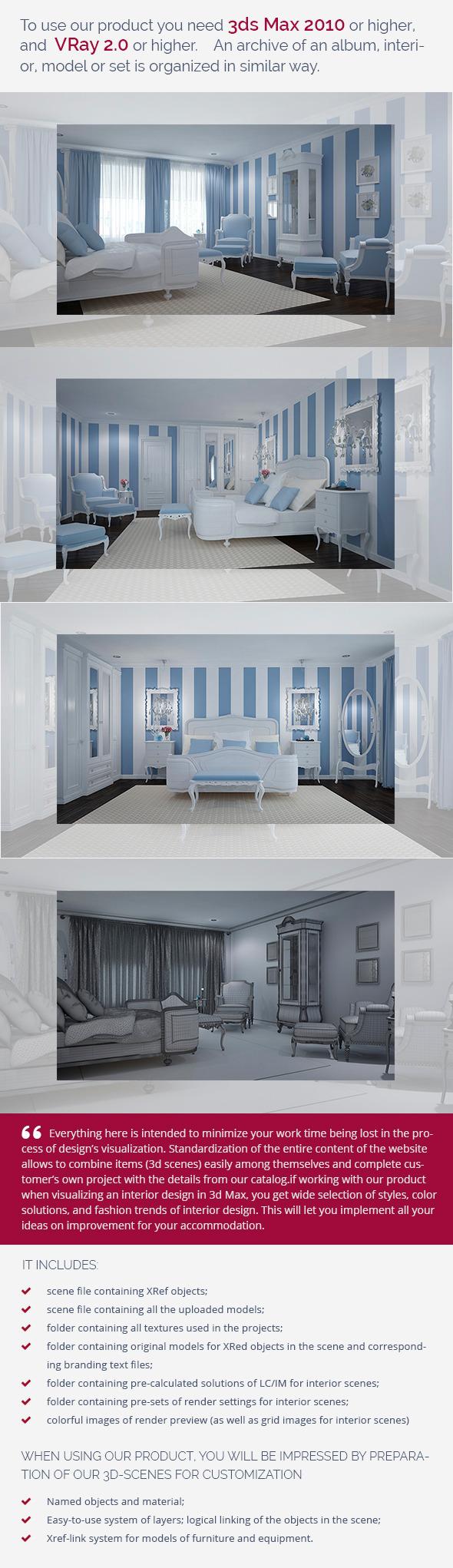 Bedroom 0280 - 3DOcean Item for Sale