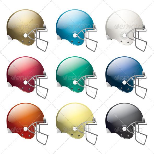 American Football Helmets - Sports/Activity Conceptual