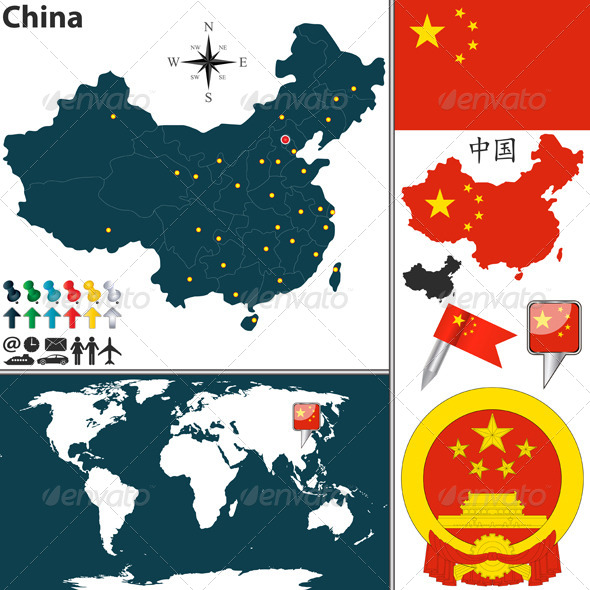 Map of China - Travel Conceptual