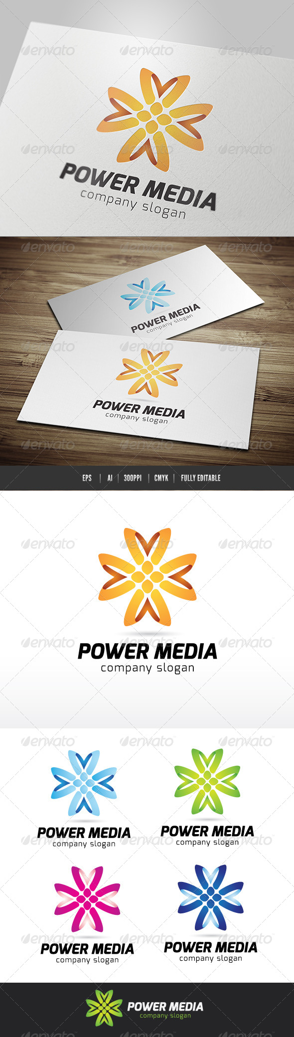 Power Media - Symbols Logo Templates