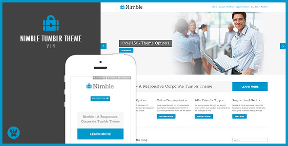 Nimble – A Responsive Business Tumblr Theme