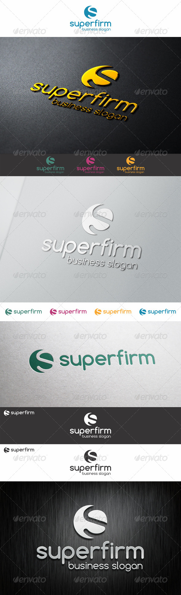 S Logo Shape - Super Firm - Letters Logo Templates