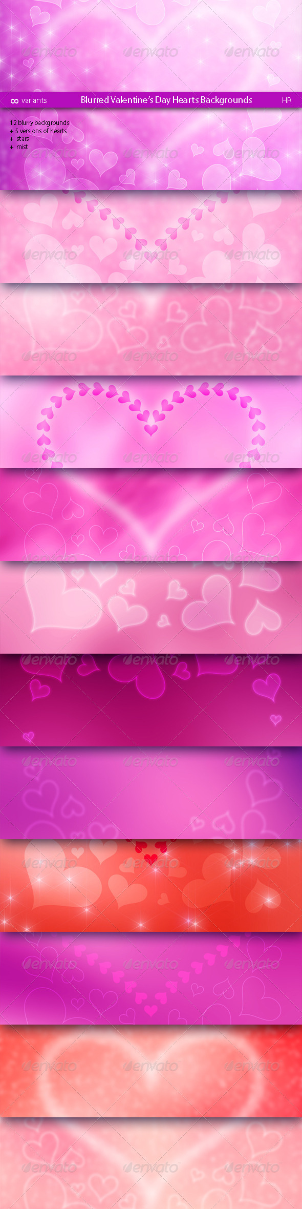 Blurred Valentine's Day Hearts Backgrounds - Miscellaneous Backgrounds