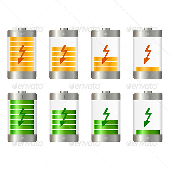 Battery Illustration - Objects Vectors
