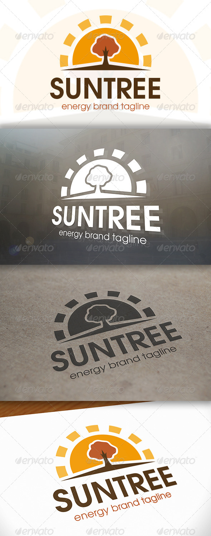 Sun Tree Logo - Nature Logo Templates